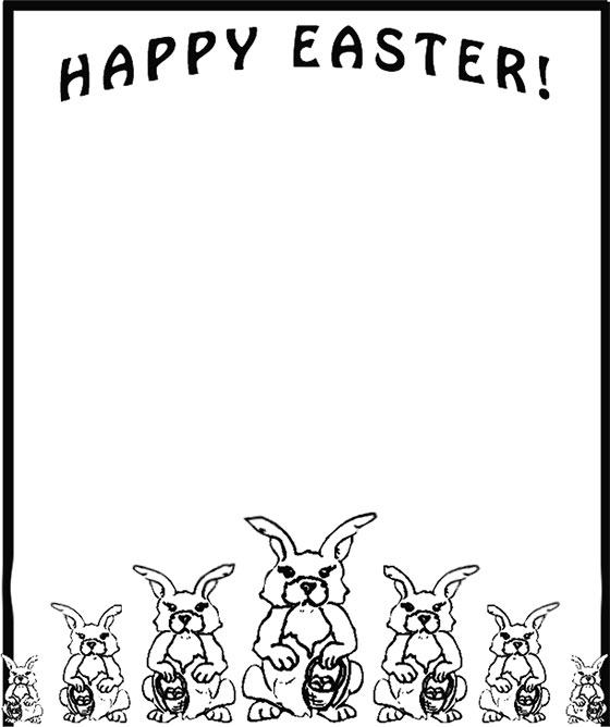 Happy Easter with Easter Bunnies