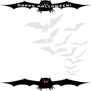 Happy Halloween with bats