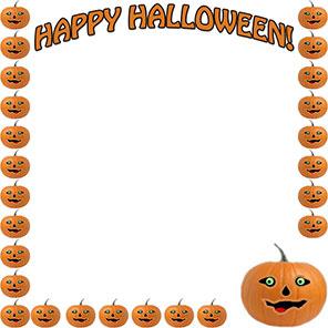 happy halloween pumpkins - Halloween Clip Art Border
