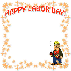 Happy Labor Day with working man