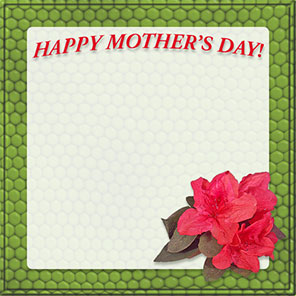 Happy Mother's Day with green frame