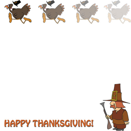Free Thanksgiving Borders