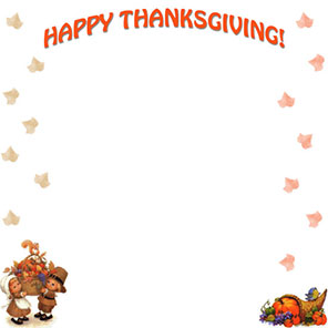 photo regarding Free Printable Thanksgiving Borders identify Totally free Thanksgiving Borders - Pleased Thanksgiving Border Clip Artwork