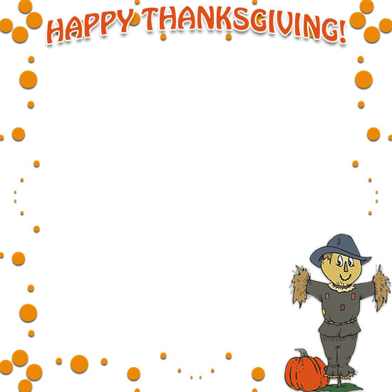 Clip Thanksgiving art borders pictures