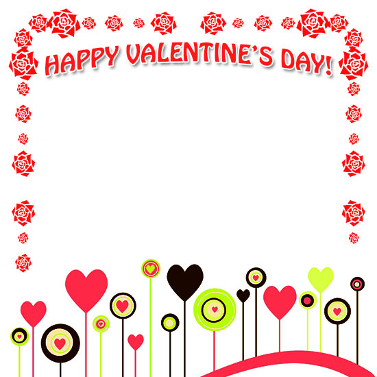 graphic about Valentine Borders Free Printable called Cost-free Valentines Working day Borders