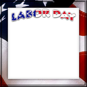American flag and Labor Day