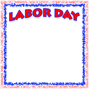 Labor Day with frame