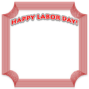 Happy Labor Day frame