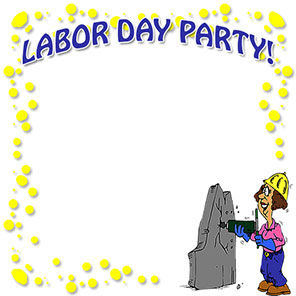 Labor Day party border