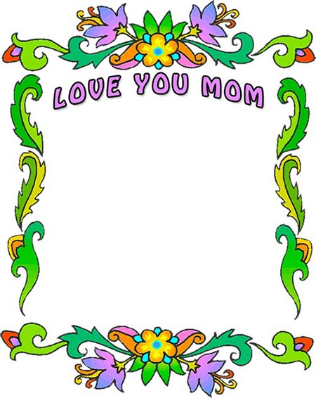 Mothers Day Borders Free Mothers Day Border Clip Art