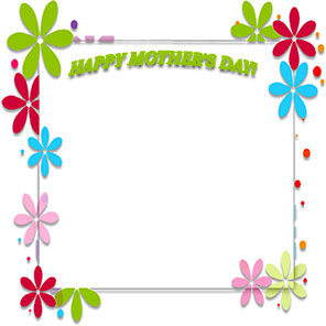 flower frame Happy Mother's Day