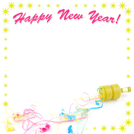 happy new year with party popper