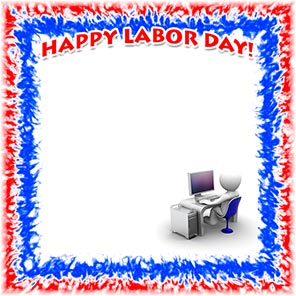 office worker Happy Labor Day