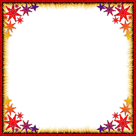 border with red and gold stars