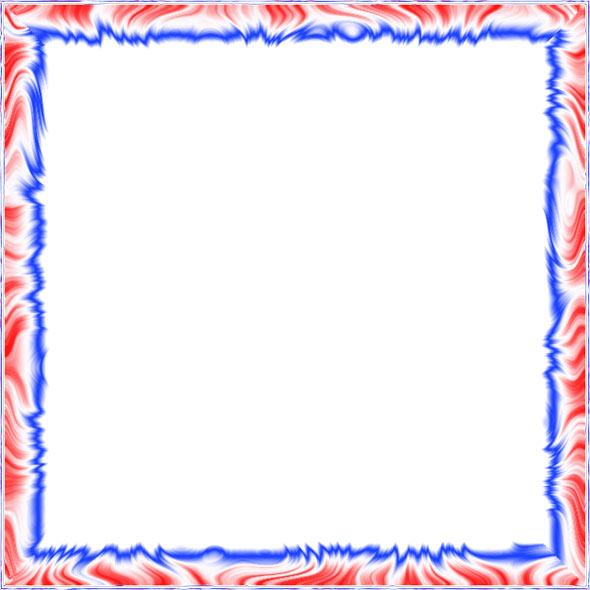 red, white and blue border