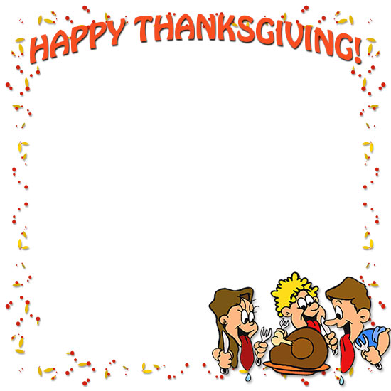 Happy thanksgiving clip art borders