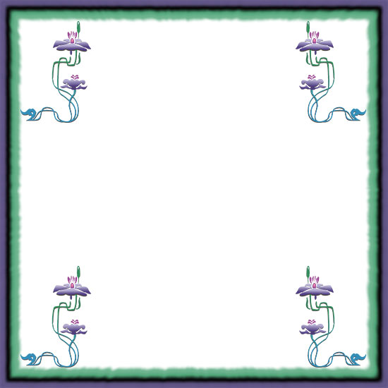 water flowers frame