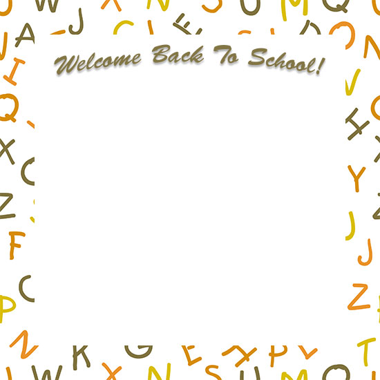 welcome back to school border larger print version