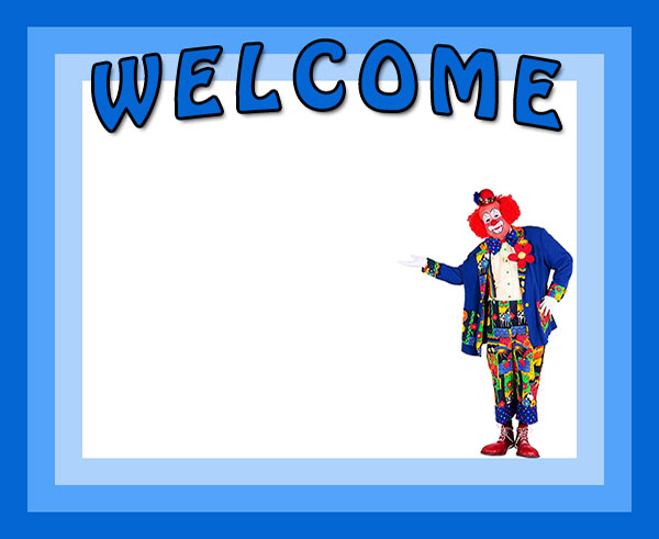 welcome border with clown