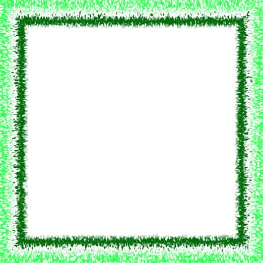 white and green border frame