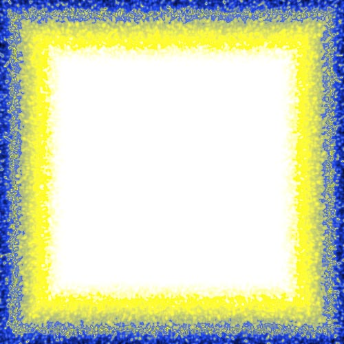 yellow and blue border frame - Yellow Frame