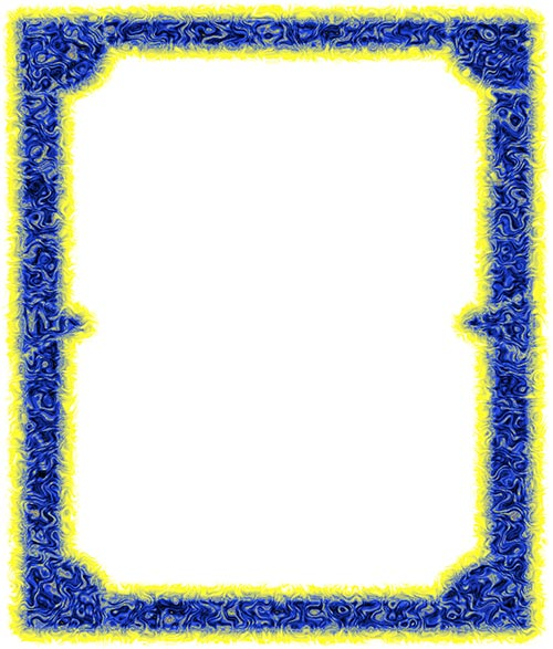 blue and yellow frame