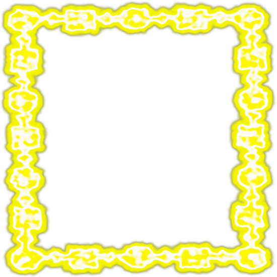 yellow chained border frame