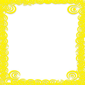 yellow decorative border frame