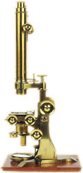 microscope made of brass