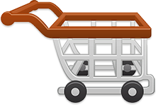 shopping cart brown