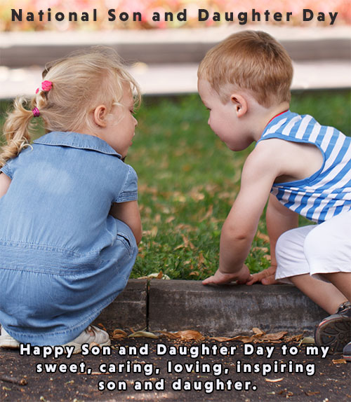 National Son and Daughter Day kids