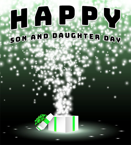 gift happy son and daughter day