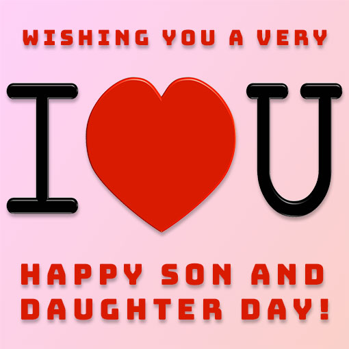Happy Son and Daughter Day