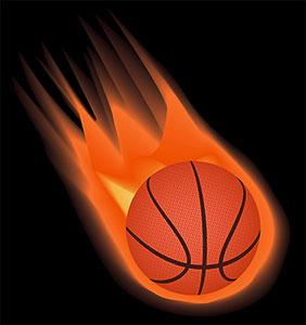 Basketball On Fire Transparent Background, HD Png Download - vhv