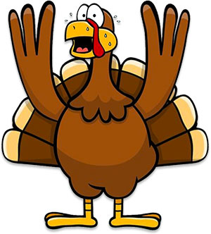 turkey hands up