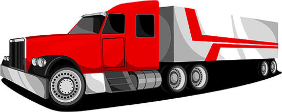 18 wheeler red