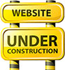 website under construction clipart sign