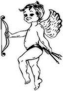 cupid line drawing