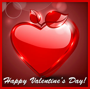 Happy Valentines Day Hearts Gif