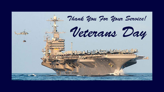 Veterans Day aircraft carrier
