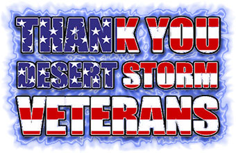 Thank You Desert Storm Veterans