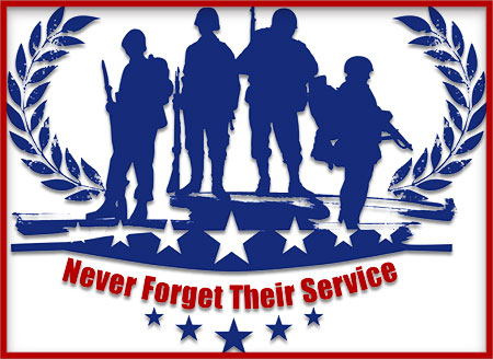 Never Forget Their Service