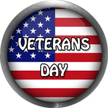 Veterans Day flag button