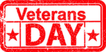 Veterans Day sign