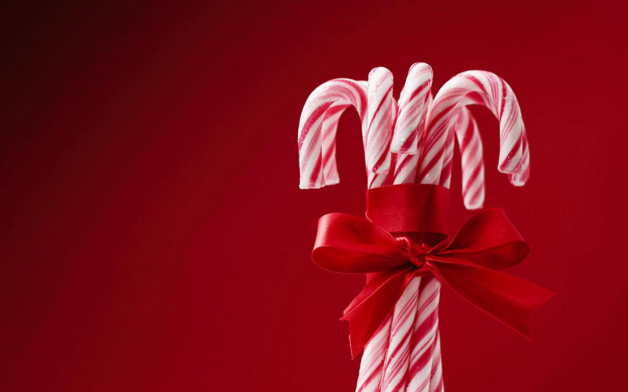 2020 christmas candy canes ribbon image