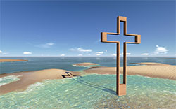 Easter cross beach