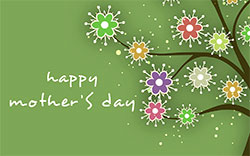 Mother's Day green background