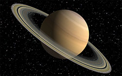 saturn and rings