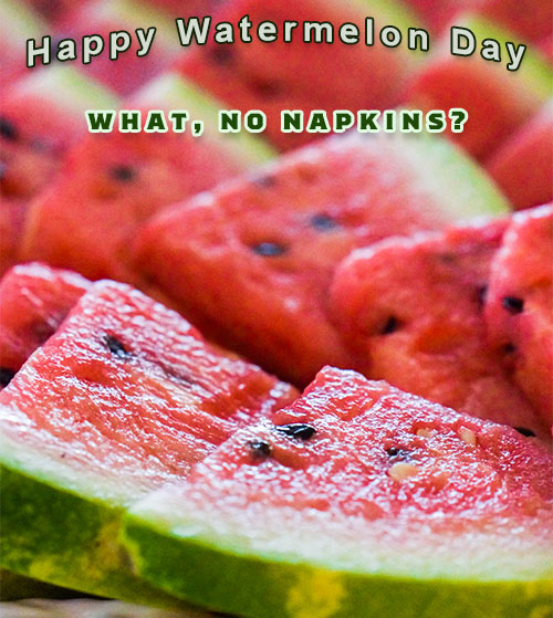Happy Watermelon Day slices