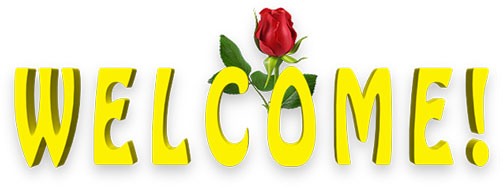 yellow welcome with red rose